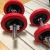 IROTEC ラバーダンベル40KGセット購入。重量が変えられる使いやすいダンベル